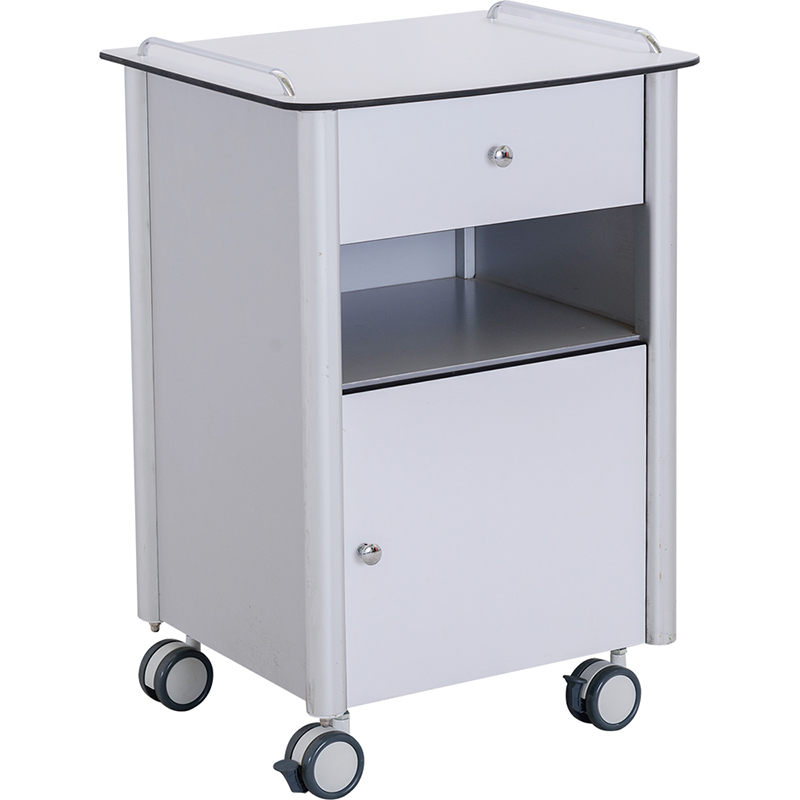 SKS009-4 Medical Bedside Tables With Wheels