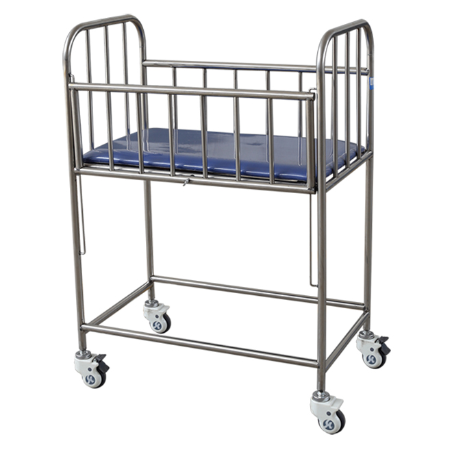 X02 Hospital Stainless Steel Baby Crib
