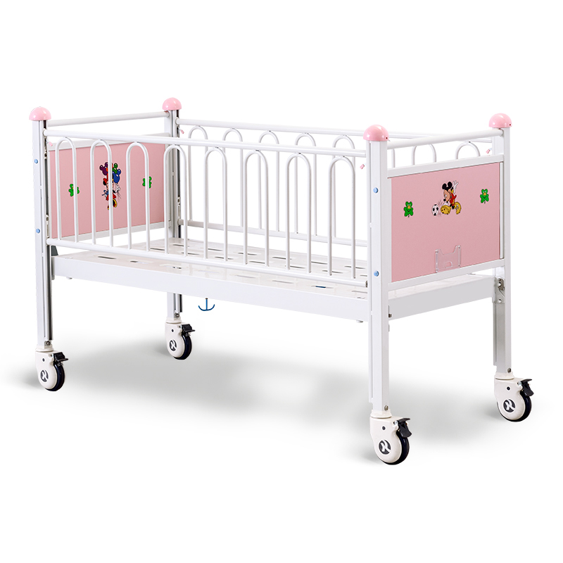 CR0q Hospital Bed For Kids Easy To Move With Casters