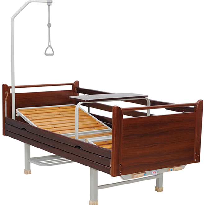 SK010 Wooden Manual Hospital Adjustable Bed