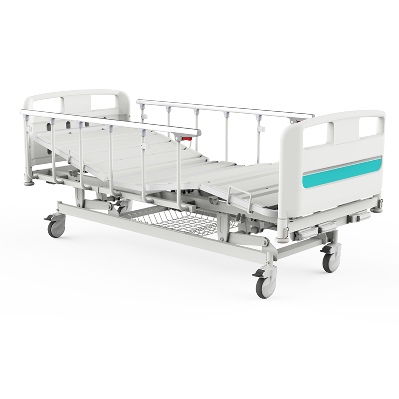 Y3w6c Manual Hospital Bed With Folding Dining Table