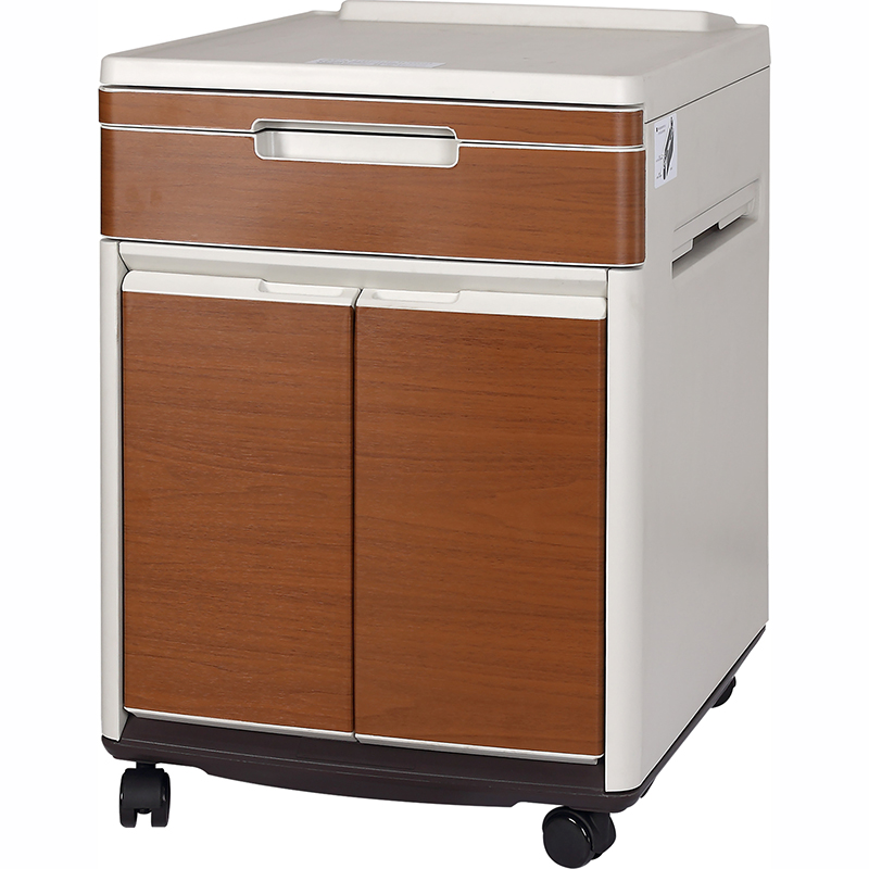 SKS013-1 Hospital Cheap Plastic Storage Bedside Cabinets With Doors