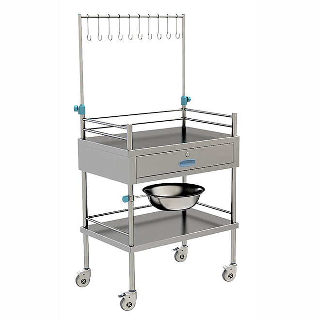 SKH032 Stainless Metal Medical Treatment Trolley