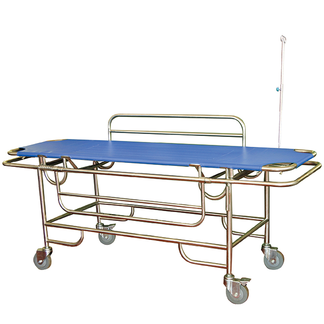 SKB037(A) FDA Certification Luxury Steel Patient Trolley