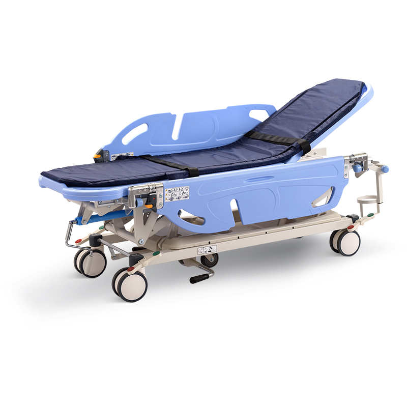 SKB041-6 Hospital Patient Transportation Trolley With Crank