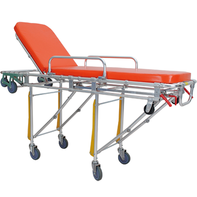 SKB039(C) Emengency Auto-loading Ambulance Stretcher Trolley