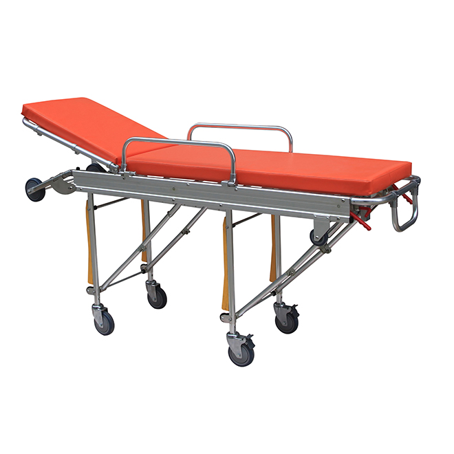 SKB039(D) General Use Stainless Steel Patient Strecher Trolley